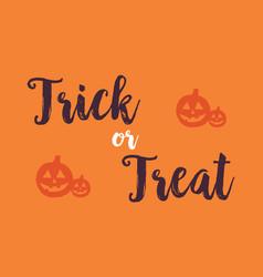 Halloween with pumpkin background card vector