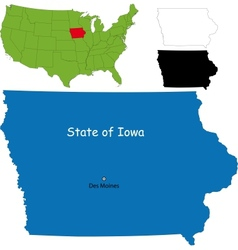 Iowa map vector image