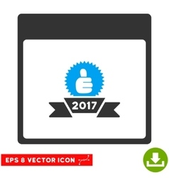 2017 Award Ribbon Calendar Page Eps Icon vector image vector image