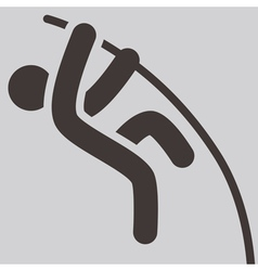 Pole vault icon vector