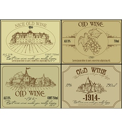 Vintage wine design elements vector image