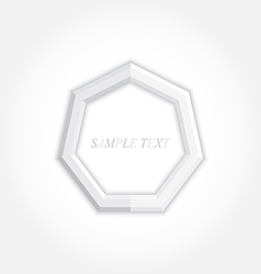 3d abstract background and heptagon icon design vector image