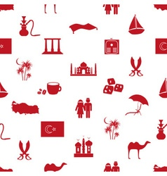 turkey country theme symbols seamless pattern vector image