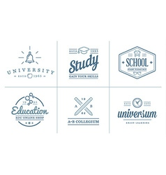 Set of Education Icons can be used as Logo or Icon vector image