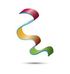 Rainbow logo template vector