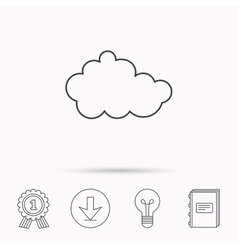 Cloud icon overcast weather sign vector