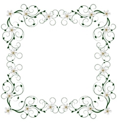 Delicate frame with flowers vector