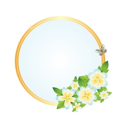 Frame with wildflowers vector