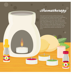 Aromatherapy flat design vector