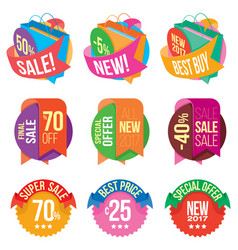 banners and stickers containing information about vector image vector image