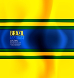 brazil colors 2 vector image vector image