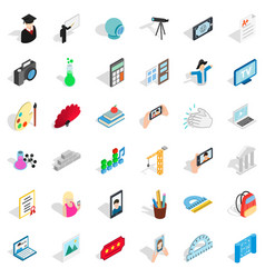 Computer icons set isometric style vector