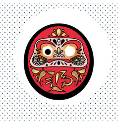 Daruma japanese traditional doll vector