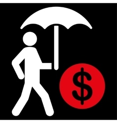 Financial insurance icon vector image