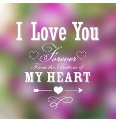 Happy Valentines Typography Background vector image vector image