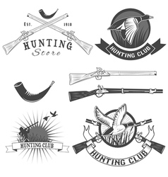 hunting club vector image