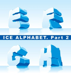 Ice alphabet part 2 vector
