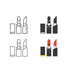 lipstick icon set vector image vector image