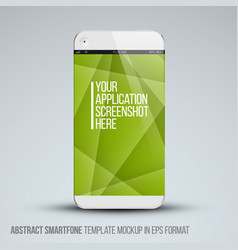 modern abstract mobile phone template vector image