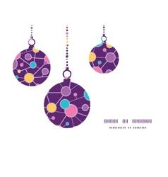 Molecular structure christmas ornaments vector
