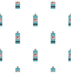 Mosquito repellent spray pattern flat vector