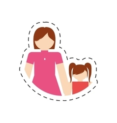 Mother daughter together family members vector