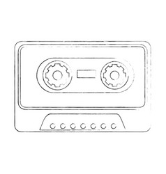 old music cassette vector image