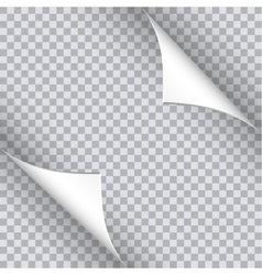 Page curl with shadow on blank sheet of paper vector