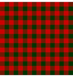 Red green check textile seamless pattern vector