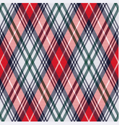 rhombic tartan seamless texture in red and light vector image