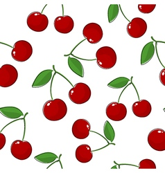 Seamless pattern of cherry vector