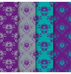 Set of seamless damask ornament vector image vector image