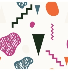 Set seamless primitive colored pattern vector