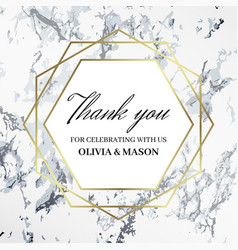 thank you design template celebrating with names vector image