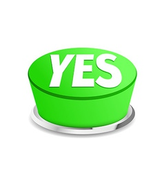 Time to say yes button sign template vector