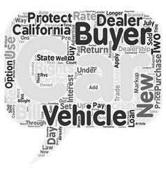 What The New California Car Buyer s Bill of Rights vector image vector image