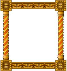 Traditional column frame bottom vector