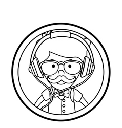 Gentleman face hipster style vector