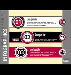 Set modern banners or template of infographics vector