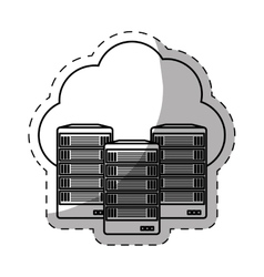 web hosting server banner icon vector image