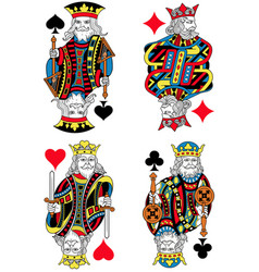 Four kings french inspiration without cards vector