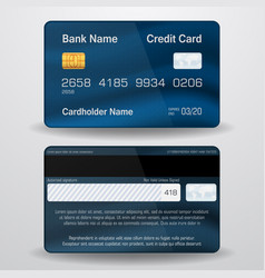 Detailed realistic credit card vector