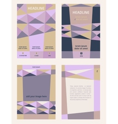 Set of corporate templates for catalogs brochures vector