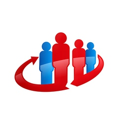 People in circle abstract family logo vector