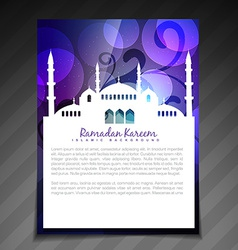 Shiny ramadan template vector