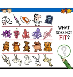 What does not fit cartoon game vector