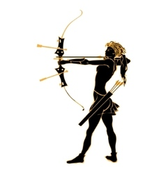Sports archery silhouettes vector