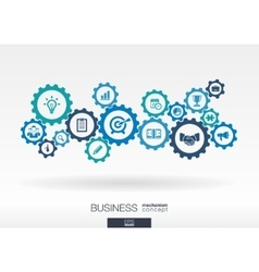 Business mechanism concept abstract background vector