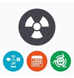 Radiation sign icon danger symbol vector