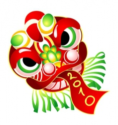 Chinese New Year mask 2010 vector image